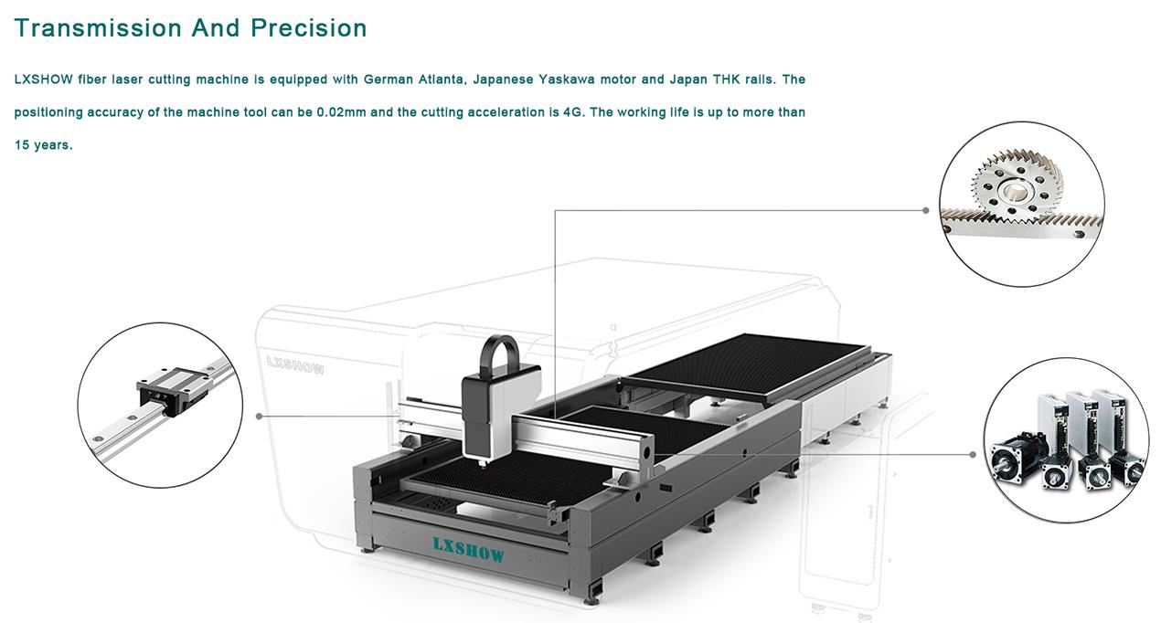 10 cnc metal laser cutting machine 2000w