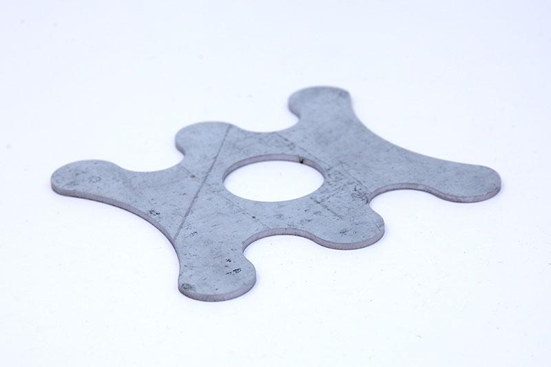 3000w laser cutting machine Galvanized sample