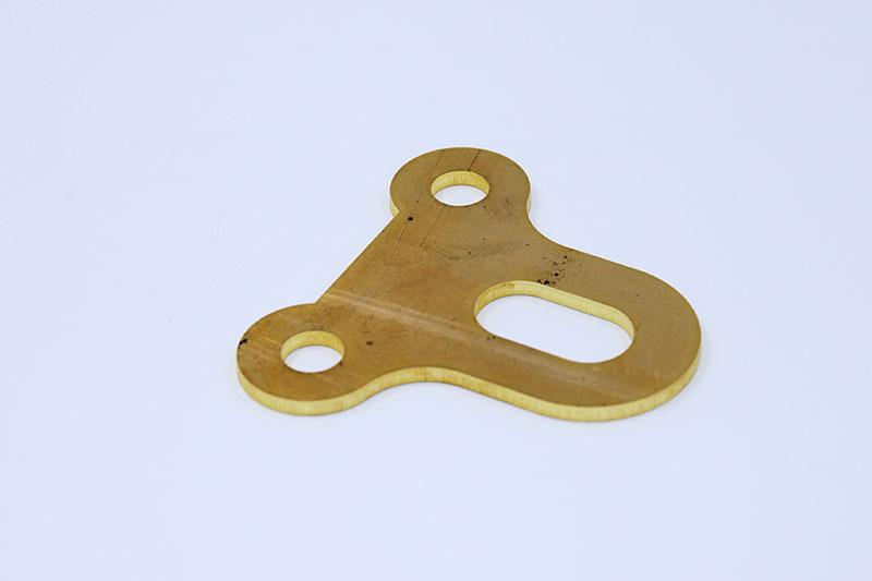 optical fiber laser cutting machine copper sample