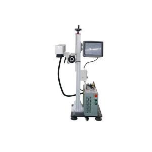 Without Computer work easy cooperation portable split fiber laser marking machine