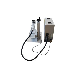 Portable small mini split type Fiber laser marking machine marking logo all kinds metal