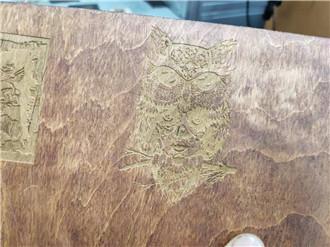 3d CO2 laser marking machine wood samples